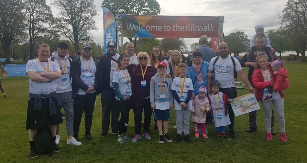 kiltwalk 2019 - made in scotland & aspirare team