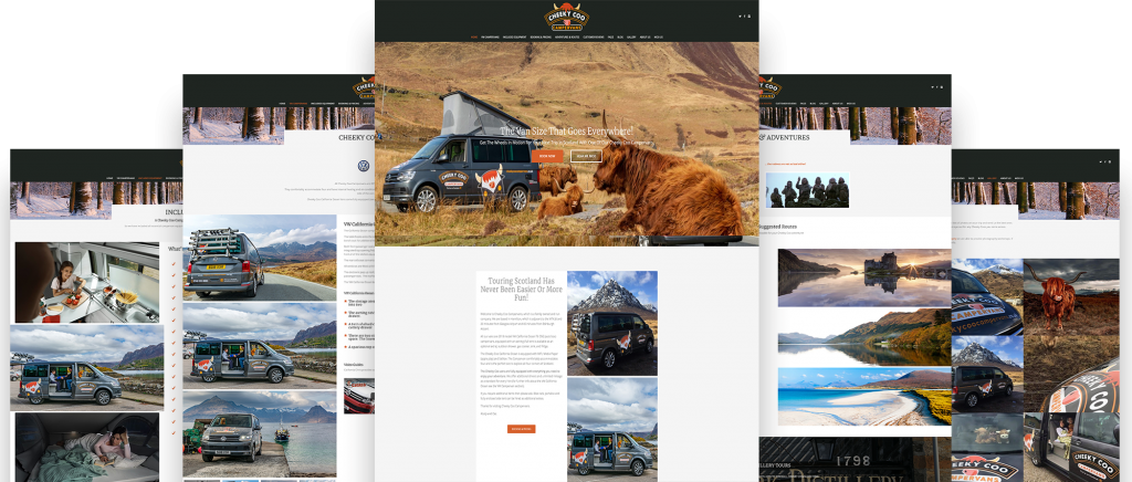 Cheeky Coo Campervans Website Preview