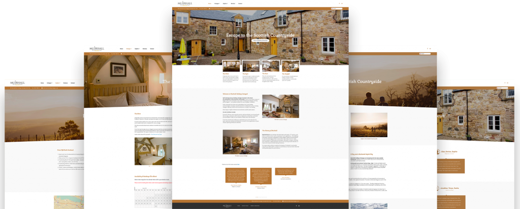 Muirhall Holiday Cottages Website