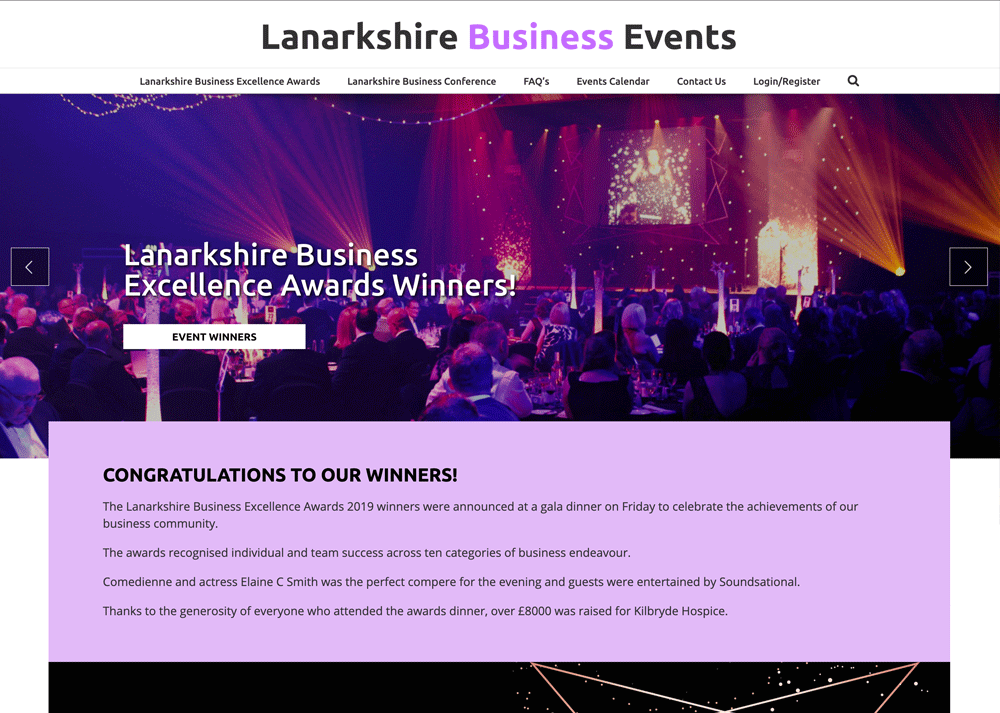 Lanarkshire Business Events - Homepage
