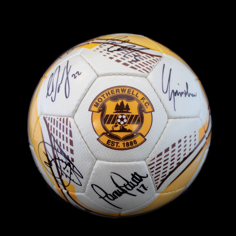 Motherwell FC Signed Ball